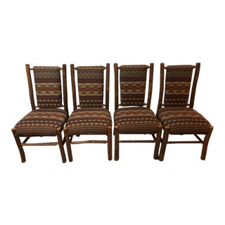 Flat Rock Furniture Rustic Mountain Chairs - Set of 4 For Sale