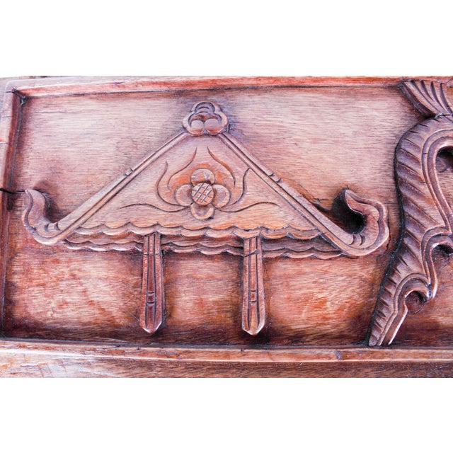 Chinese Hand-Carved Wooden Geometric & Figural Panels - Set of 4 - Image 7 of 11