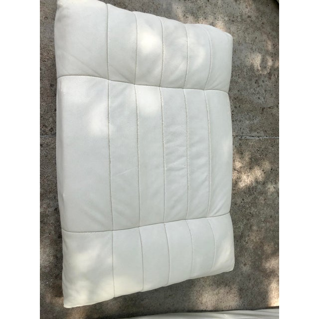 Michael Ducaroy Togo Style White Vinyl Sectional - Set of 4 For Sale - Image 12 of 13