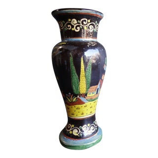 Black Tlaquepaque Vase with Parrots and Other Birds For Sale