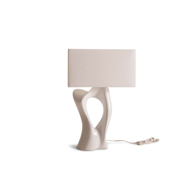 White Amorph Vesta White Lacquered Table Lamp For Sale - Image 8 of 10