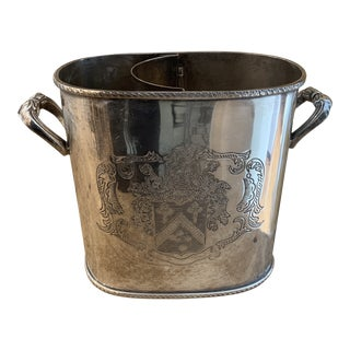International Silver Plate Wine Cooler For Sale