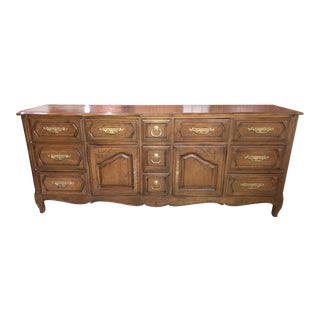 Davis Cabinet Company Triple French Provincial Umberwood Dresser For Sale