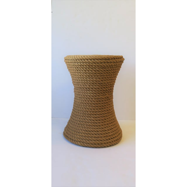 Nautical Rope Round Side or End Table For Sale - Image 4 of 10