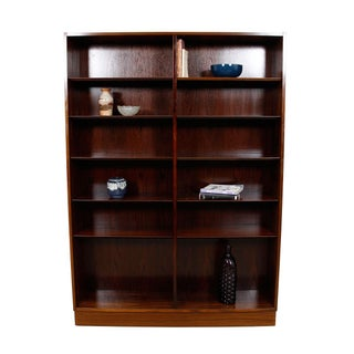Danish Modern Double Bookcase With Adjustable Shelves in Rosewood Preview