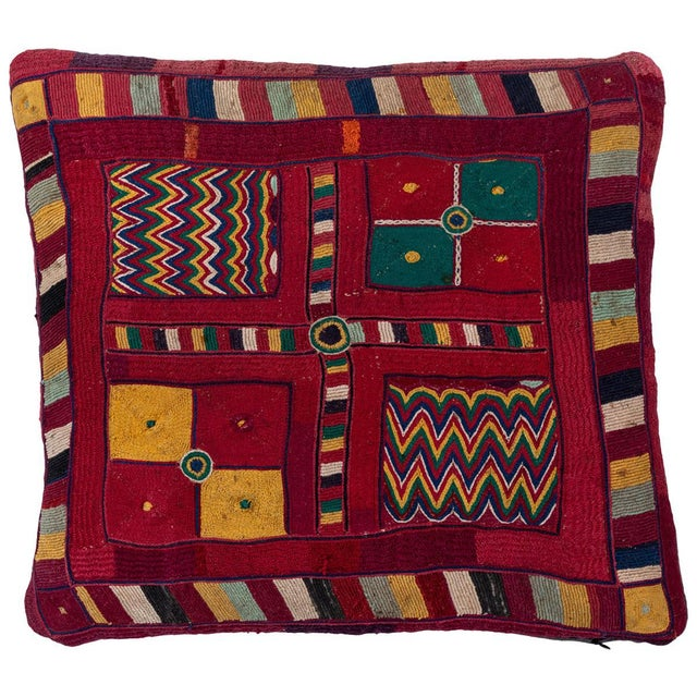 Mid 20th Century Indian Banjara Embroidered Pillow For Sale - Image 5 of 5