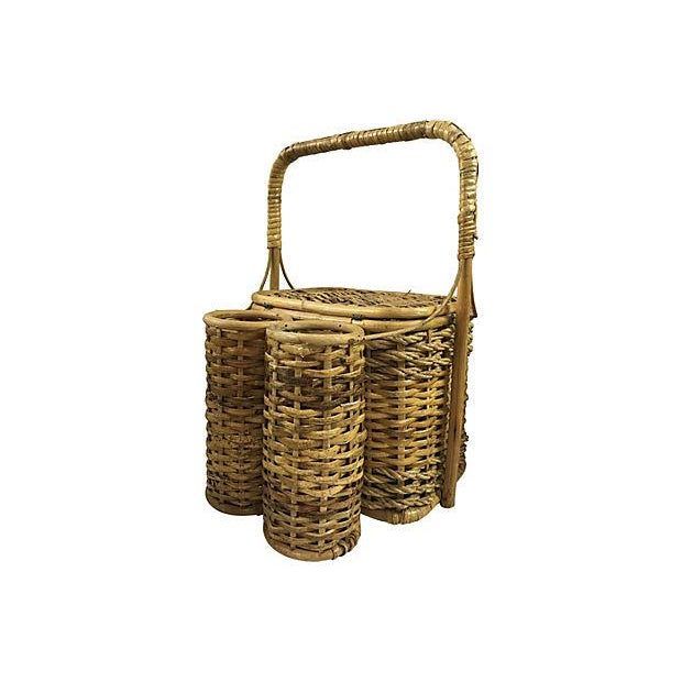 Wicker Picnic Basket with Bottle Carrier - Image 3 of 3
