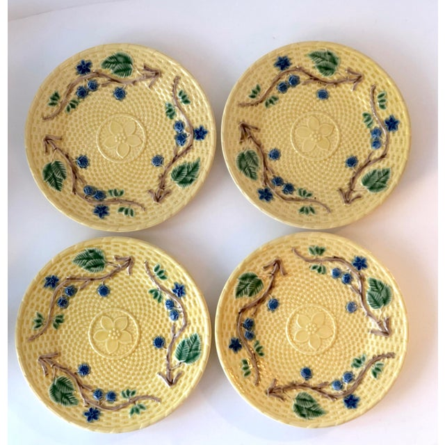 Tiffany & Co. Majolica Blackberries Tea Set With 12 Dessert Plates - Vintage For Sale - Image 9 of 12