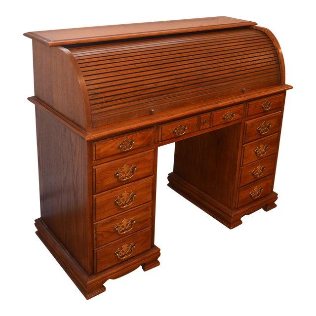 Vintage Oak Roll Top Desk For Sale - Vintage Oak Roll Top Desk Chairish
