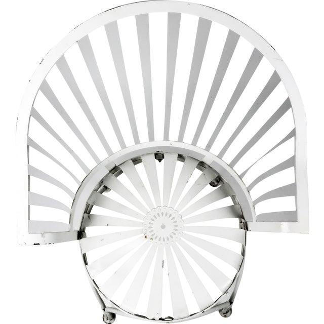 Francois Carre Vintage Fan Back Patio Armchair - Image 4 of 11