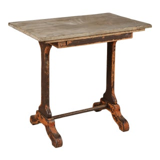 1920s Rectangle Bistro Table For Sale
