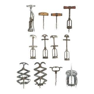Antique French Corkscrews - Set of 12