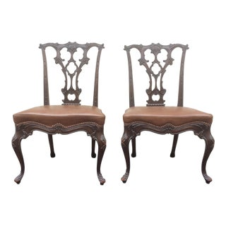 George Lll Style Side Chairs - a Pair For Sale