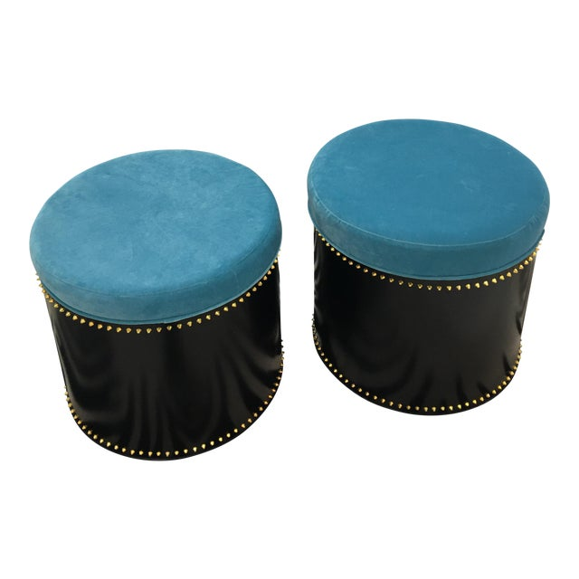 Taylor Burke Home Rivet Stools - A Pair - Image 1 of 3