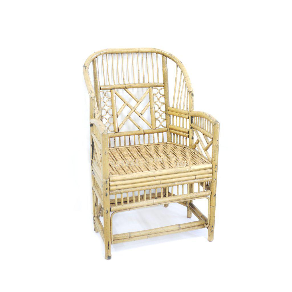 Vintage Brighton Style Bamboo/Rattan Chair   Image 2 Of 6