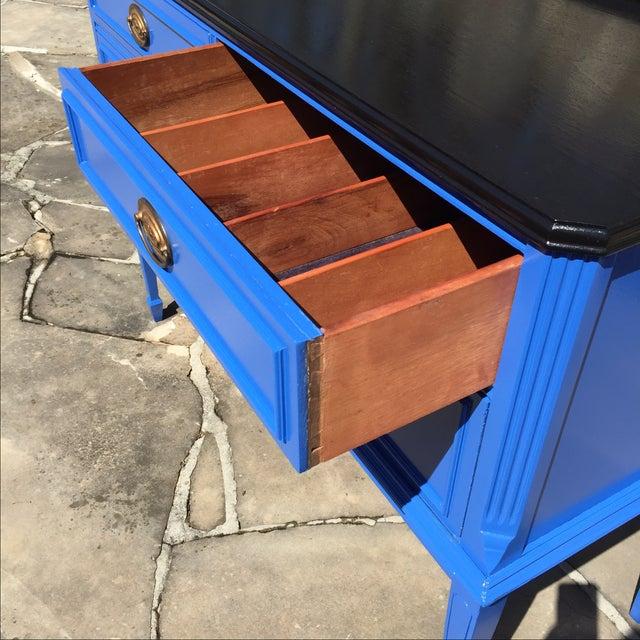 Vintage Blue Painted Sideboard Buffet - Image 4 of 6