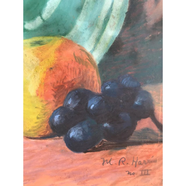 Mid 20th Century Vintage Pastel Still Life by Harris For Sale - Image 5 of 6