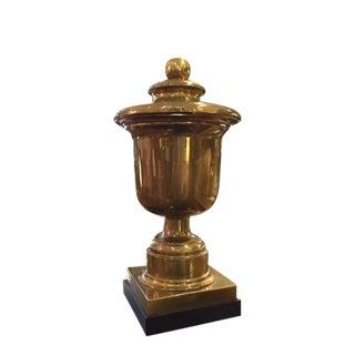Vintage Monumental Chapman Brass Urn on Base