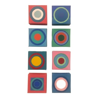 "2019 Brooks Burns ""Bullseye 4"" Set of Original Pop Art Paintings - Set of 8 For Sale"