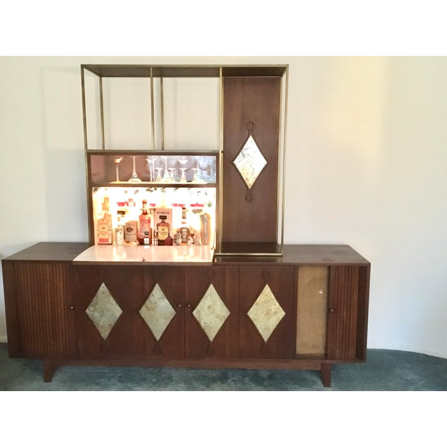Mid-Century Modern 1960s Mid-Century Living Room Credenza With Bar For Sale - Image 3 of 4