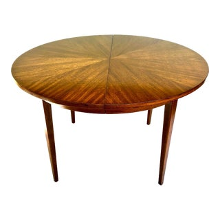 American of Martinsville Mid-Century Modern Mahogany Sunburst Dining Table For Sale