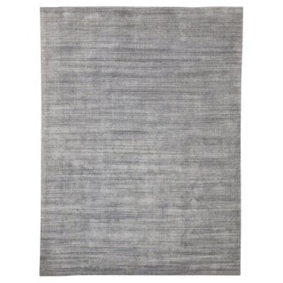 Transitional Nordic Gray Area Rug - 9′ × 11′11″ For Sale