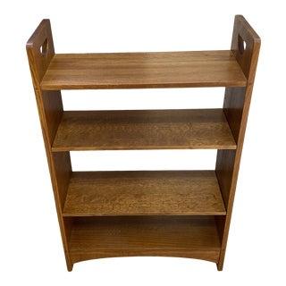 Stickley Furntiure Oak Tiger Flame Bookshelf For Sale