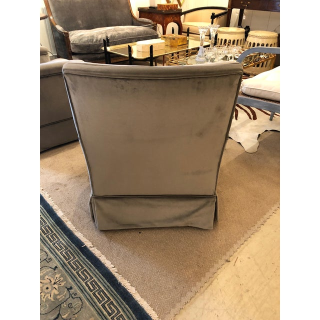 Textile Moviestar Grey Platinum Pair of Vintage Club Lounge Chairs For Sale - Image 7 of 10