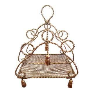 Italian Rope and Tassel Magazine Rack