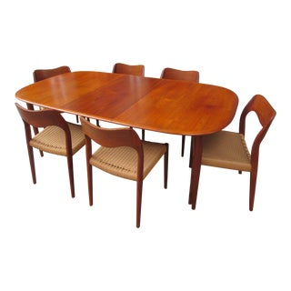 Neils Moeller and MM Moreddi Dining Set in Teak