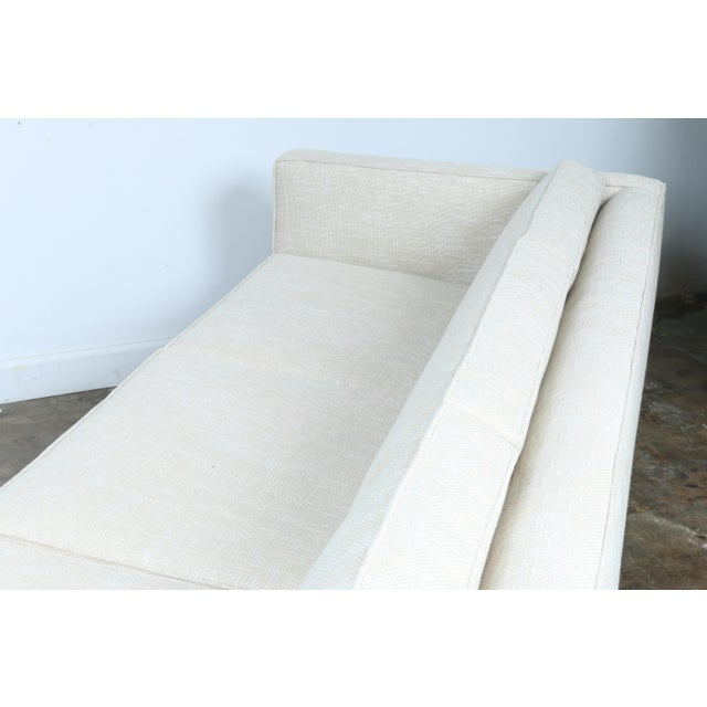 White Mid-Century Sofa With Chrome Legs For Sale - Image 11 of 11