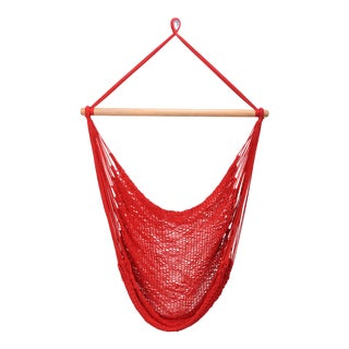 Classic Red Cotton Hammock Swing For Sale