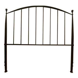 Crate and Barrel Full Metal Headboard For Sale