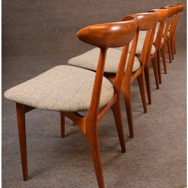 Oak Vintage Kurt Ostervig Danish Modern Teak & Oak Dining Chairs - Set of 6 For Sale - Image 7 of 11