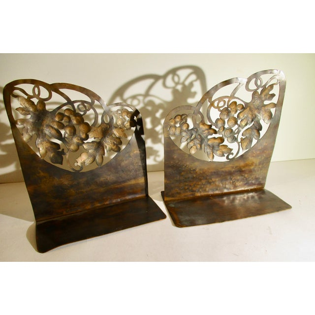 Arts & Crafts Arts and Crafts Pierced Copper Bookends - a Pair For Sale - Image 3 of 6
