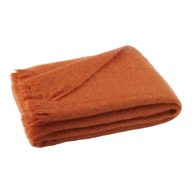 Sienna Brushed Mohair Throw For Sale