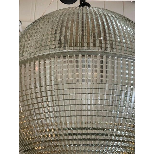 Parisian Holophane Globe Pendant Chandelier For Sale - Image 11 of 13
