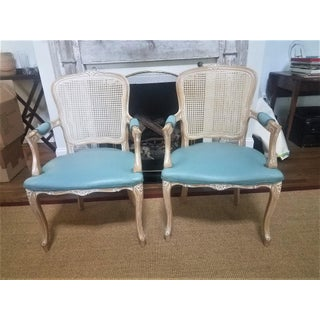 1980s Vintage Classic Regency Armed Caned Chairs - a Pair Preview