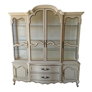 1950s French Provincial Mount Airy China Cabinet For Sale