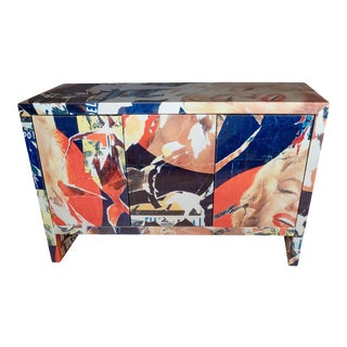 Three Door Pop Art Sideboard For Sale