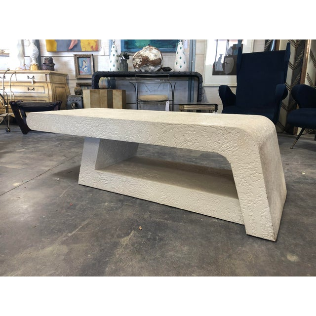 1980's Plaster Coffee Table/Bench For Sale - Image 6 of 8