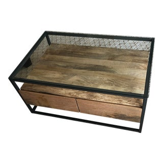 West Elm Storage Coffee Table For Sale