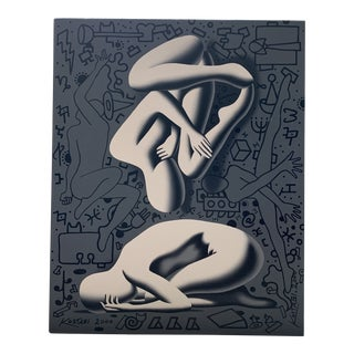 Vintage 'Recondite Muse' by Mark Kostabi For Sale