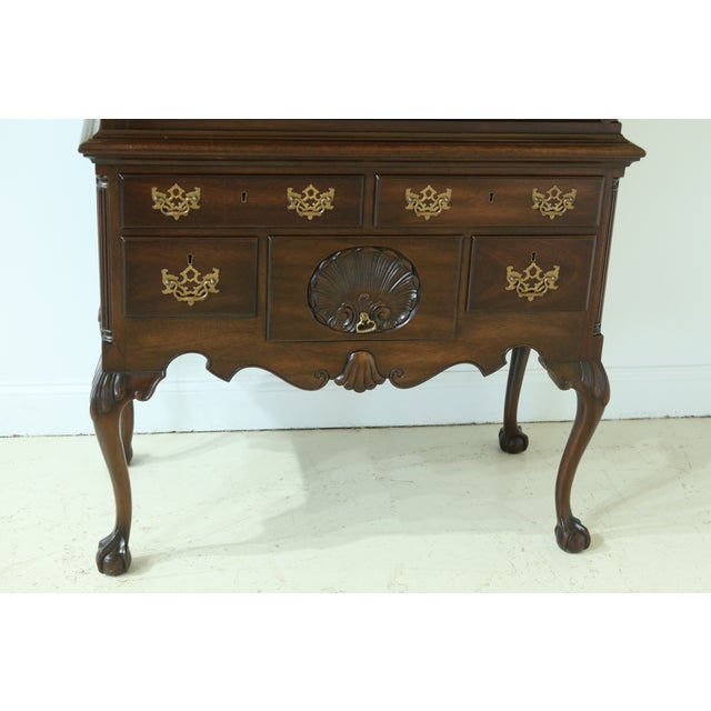 Chippendale Kittinger Biggs Model 1780 Chippendale Mahogany Highboy For Sale - Image 3 of 12