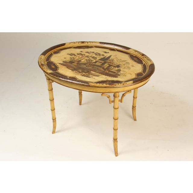 English Regency Style Chinoiserie Decorated Tray Table For Sale - Image 13 of 13