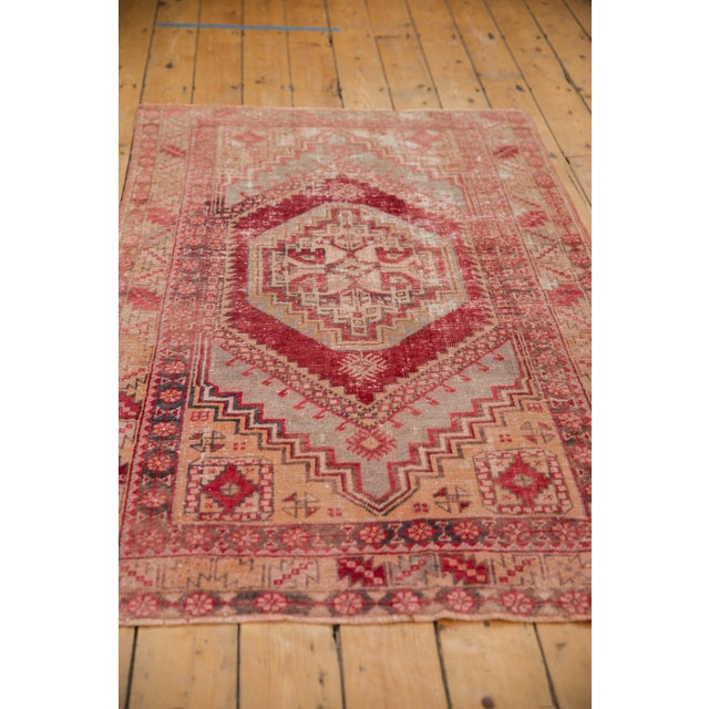 "1950s Vintage Distressed Oushak Rug - 3'8"" X 5'8"" For Sale - Image 5 of 12"