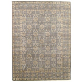 """Traditional Pasargad N Y Khotan Hand Knotted Rug - 8'10"""" X 11'10"""""""
