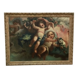 18th C French Putti Painting