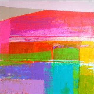 """Landscape Design 3"" Acrylic Painting For Sale"
