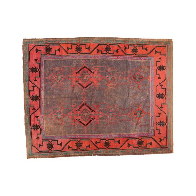 "Vintage Turkish Kilim Carpet - 6'1"" x 7'9"" - Image 1 of 5"